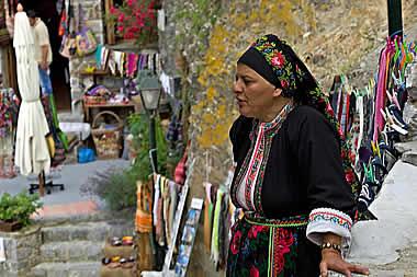 Karpathos - Women in Olympos Village