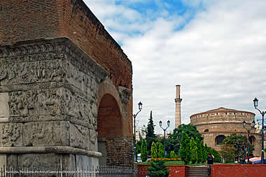 Thessaloniki - The Arch of Galerius and Rotonda